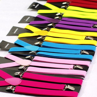 Fashion Men And Women Universal Belts Pure Black Three Clip Two Type Suspenders Shirt Garters For Men Wholesale 5pcs/lot