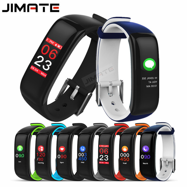 Jimate J1 Smart Wristband Fitness Bracelet Most Accurate Heart Rate Monitor Blood Pressure Colorful Touch Screen PK Fitbits S2