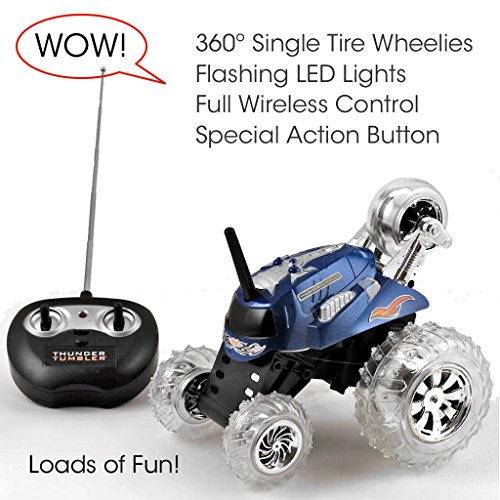 New Style Thunder Tumbler Remote Radio Control Rally 360 Single Tire
