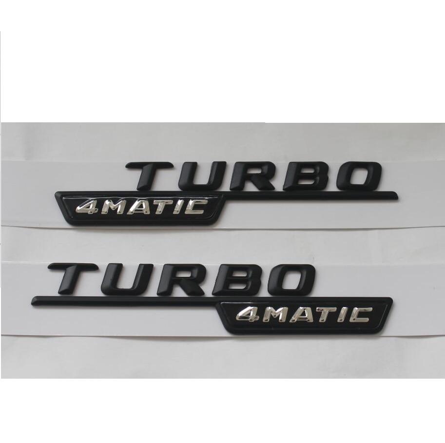 Черный «TURBO 4 MATIC» АБС-Пластик Багажнике Автомобиля Сзади Письма Знак Герба Эмблемы Стикера этикеты для Mercedes-Benz AMG Turbo