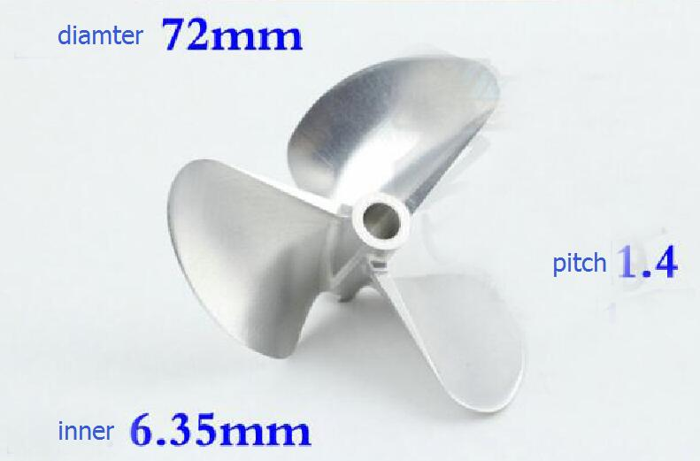 3-Blade CNC RC Boat propeller 7014 7214 70mm 72mm Aluminum round propeller fit for RC boat model aluminum water cool flange fits 26 29cc qj zenoah rcmk cy gas engine for rc boat