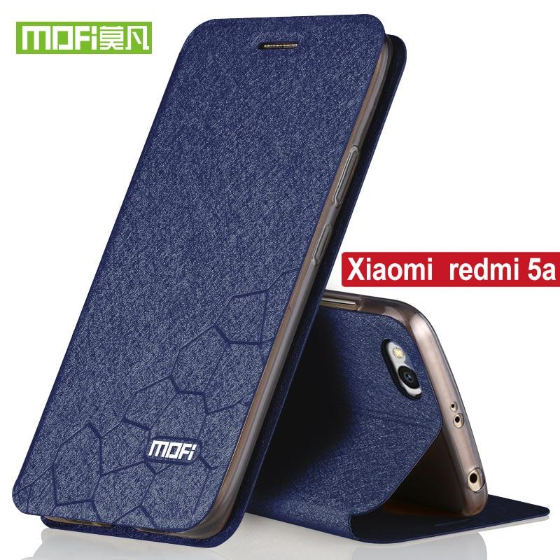 Para Xiaomi Redmi Tampa Do Caso Da Aleta Mofi Original Stand Titular 5a Capa de silicone Xiaomi Redmi Redmi 5A Luxo PU Couro 5A pro caso
