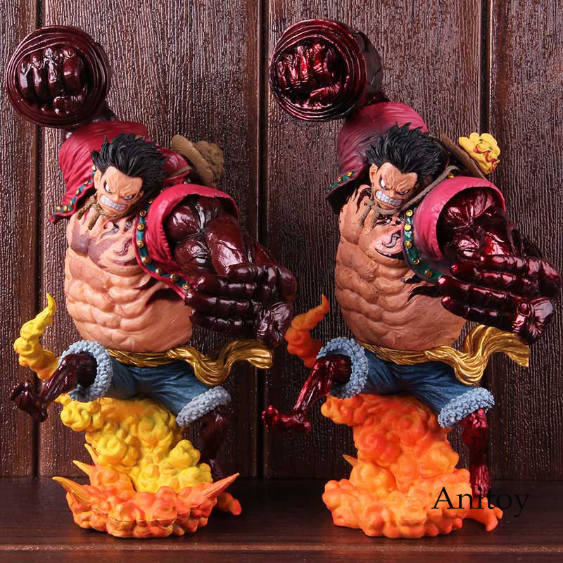 Anime One Piece Luffy Bound Man Monkey D Luffy Gear 4 Kong Gun Grimson Color Ver. PVC Action Figure Collectible Model Toy 1