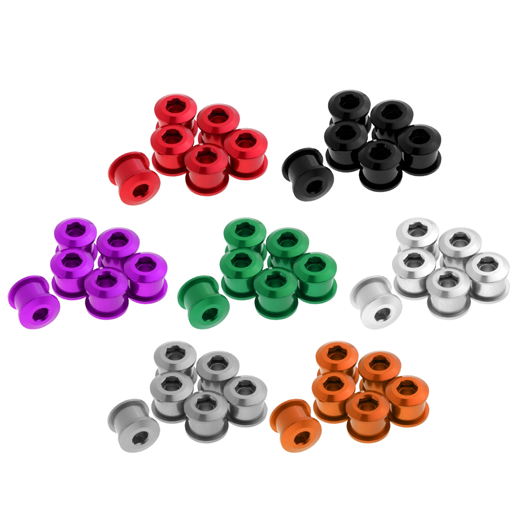 6pcs 7075 Aluminum Alloy CNC Bicycle Chainring Screws Bolts for Road Bike MTB Bicycle Parts