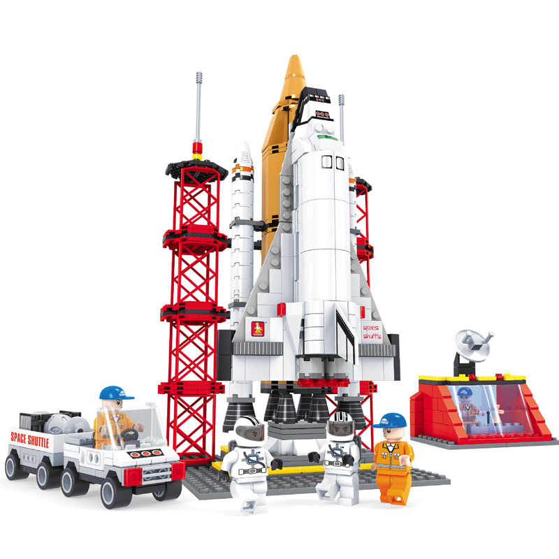 Space Shuttle Spacecraft Building Blocks Toys Spacecraft Launch Pad Building Compatible legoINGly Ninjagoed Bricks For Kids Gift