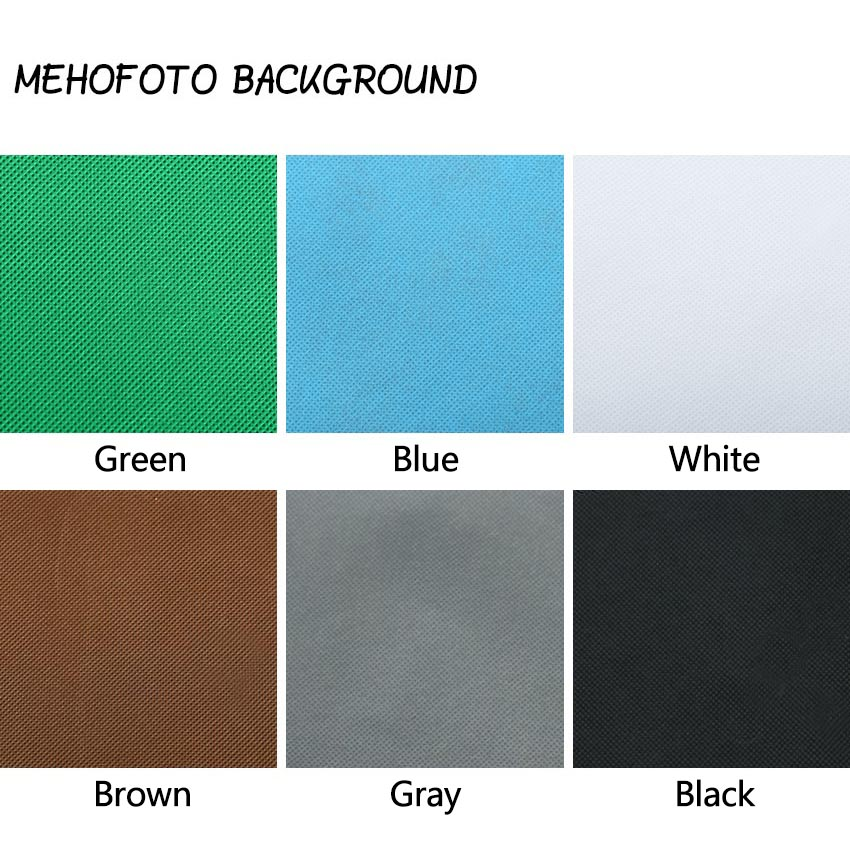 MEHOFOTO Green Screen Portrait Photography Backdrops Chroma Key Non-woven Fabric Professional For Photography Studio Props