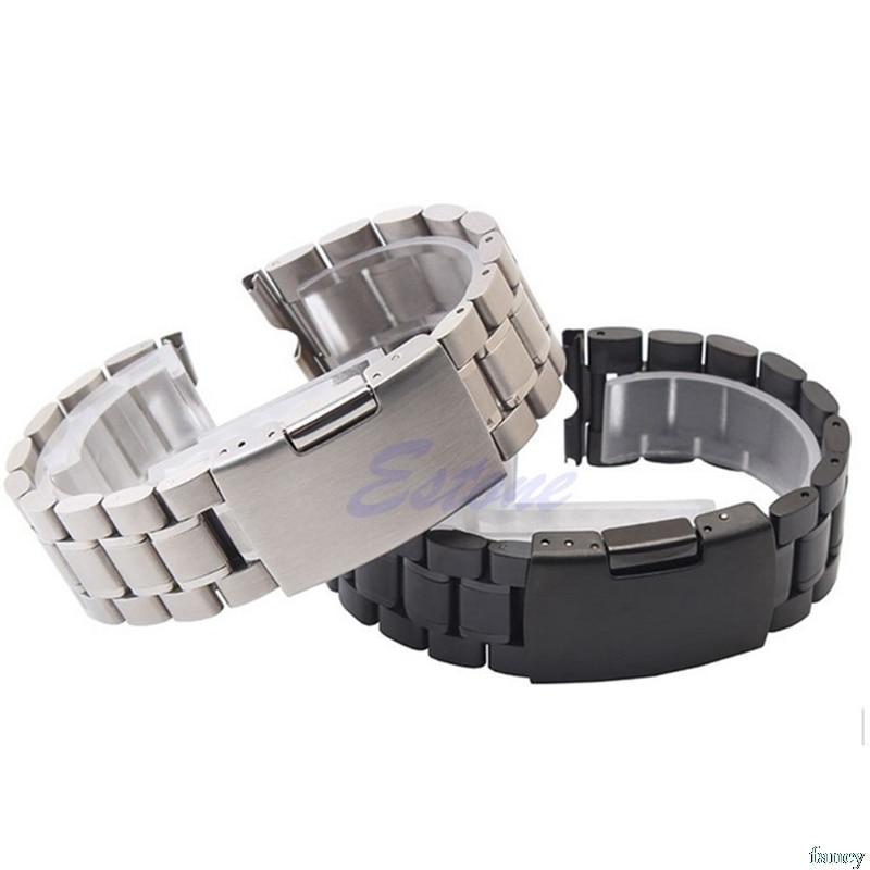 Premium Watch Band 22mm Watchbands Stainless Steel Watch Strap For Moto Motorola 360 Smart Watch + Tools