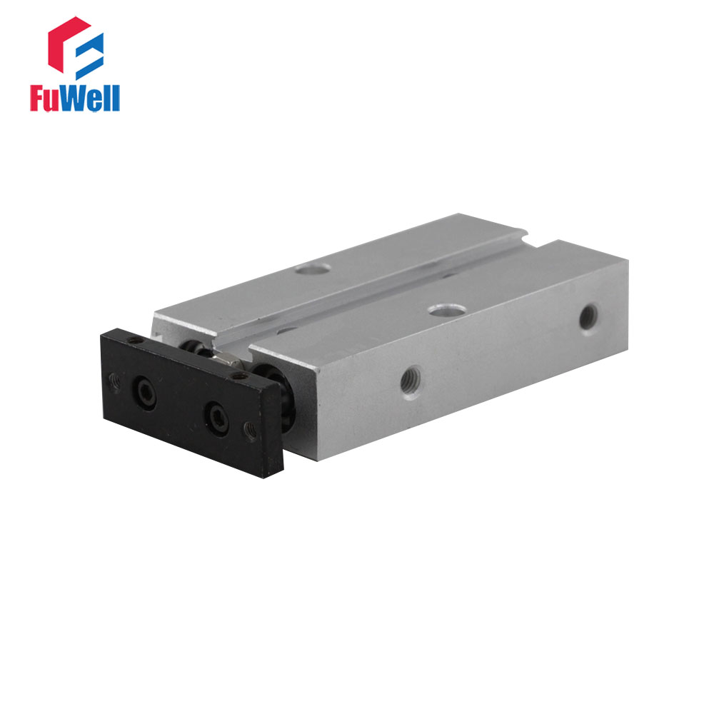 TN Type Pneumatic Cylinder 10mm Bore 5/10/15/20/25/30/35/40/50/60mm Stroke Double Rod Double Action Aluminum Alloy Air Cylinder tn10x45 s two axis double bar new air cylinder double shaft double rod 10mm bore 45mm stroke pneumatic cylinder