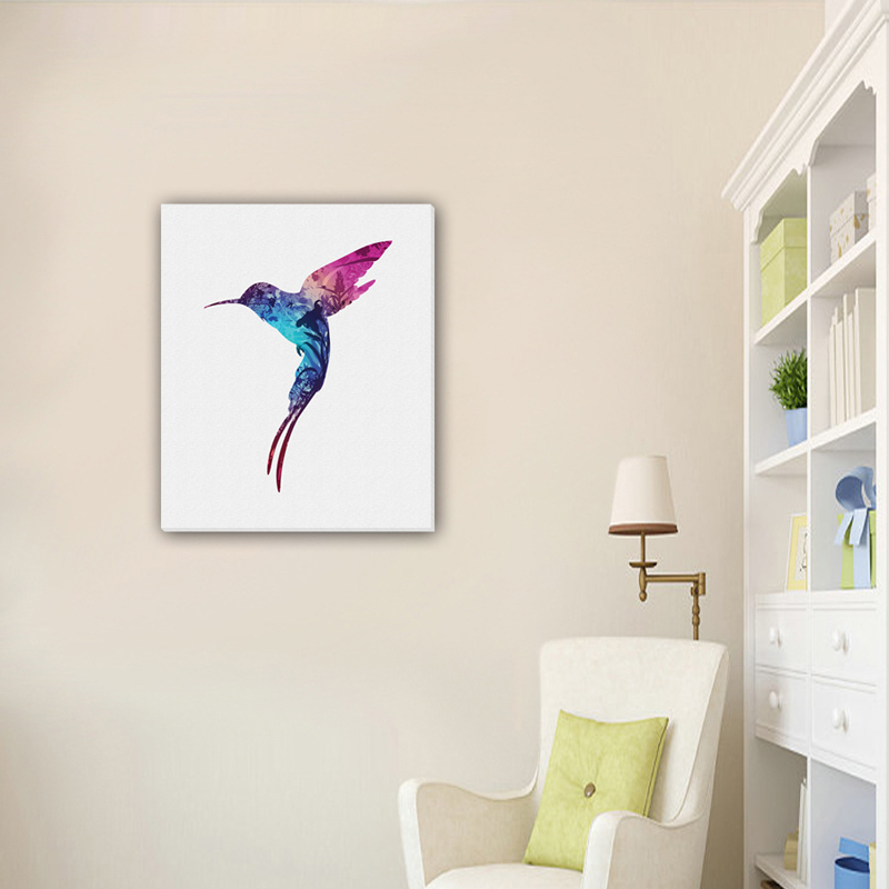Frameless Colored bird Canvas Painting Oil Painting Print Naturally Home Decor Art Picture Wall For Living Room Unique Gift-in Painting \u0026 Calligraphy from ... & Frameless Colored bird Canvas Painting Oil Painting Print Naturally ...