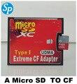 Único cartão micro sd TF para Compact Flash CF tipo I adaptador conversor, Leitor de cartão CF extrema adaptador cf, Udma para dslr camera