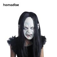 Homadise Straszny Cosplay Długie Włosy Halloween Duch Maski Pełna Maska Halloween Prop dla Dorosłych Darmowa Wysyłka