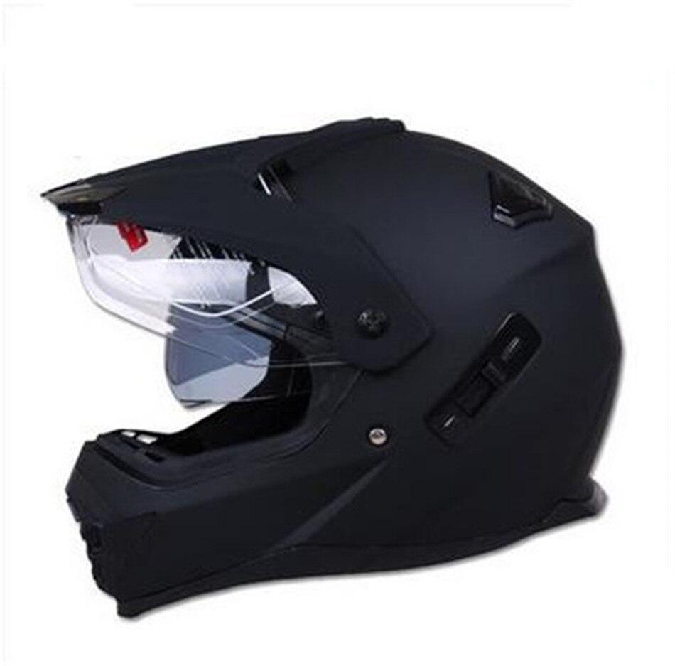 Nouveau moto rcycle double lentille moto vélo moto cross hors route casque ATV Dirt bike descente vtt DH casque de course casque de Cross