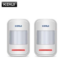 2 قطعة/4 قطعة الكثير متخصصة KERUI 433 Mhz اللاسلكي الحركة شرطة مستشعر ل GSM PSTN نظام إنذار المنزل دون هوائي الأشعة تحت الحمراء