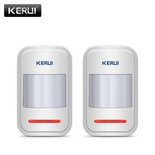 2 قطعة/4 قطعة مجموعة KERUI 433 ميجا هرتز اللاسلكية ذكي PIR محس حركة كاشف ل GSM PSTN نظام إنذار المنزل دون هوائي الأشعة تحت الحمراء