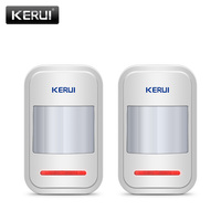 2pc Lot KERUI 433Mhz Wireless Intelligent PIR Motion Sensor Detector For GSM PSTN Home Alarm System