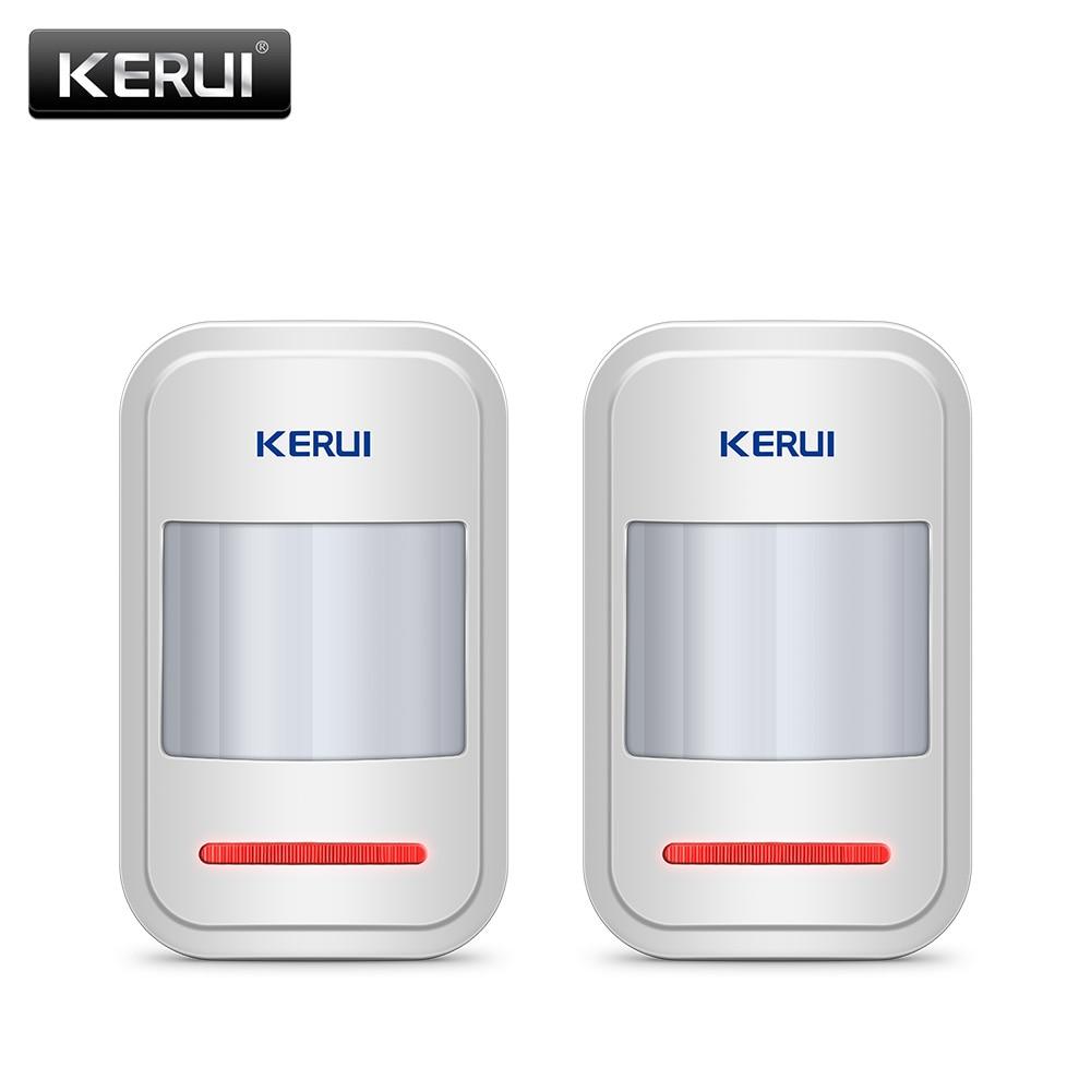 2 pz/4 pz Lotto KERUI 433 Mhz Wireless Intelligente Pir Sensore di Movimento Per GSM PSTN Allarme Casa sistema Senza Antenna A Raggi Infrarossi