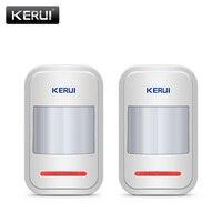 2pc Lot KERUI 433Mhz Wireless Intelligent PIR Motion Sensor Detector For GSM PSTN Home Alarm System