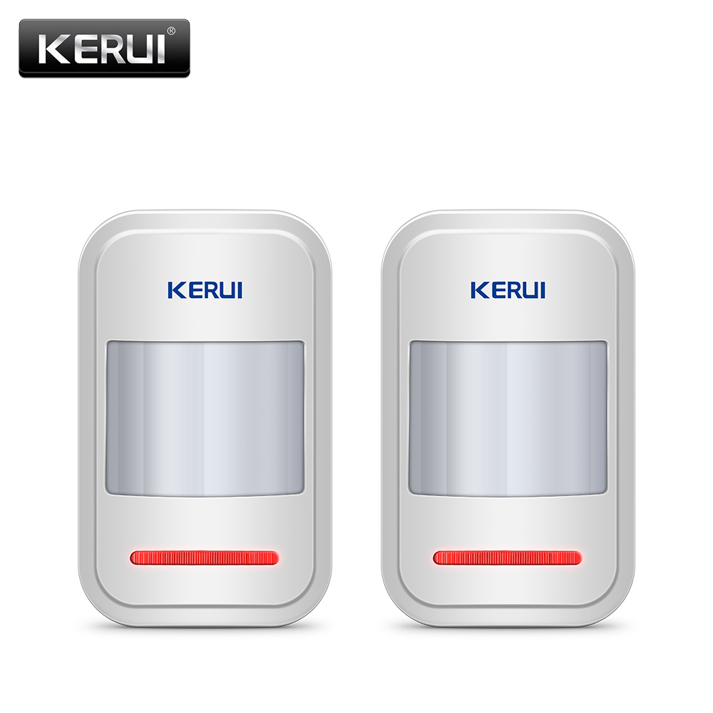 2pc/4pc Lot KERUI 433Mhz Wireless Intelligent PIR Motion Sensor Detector For GSM PSTN Home Alarm System Without Antenna Infrared wireless vibration break breakage glass sensor detector 433mhz for alarm system
