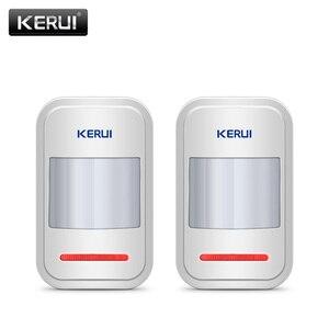 Image 1 - 2pc/4pc Lot KERUI 433Mhz bezprzewodowy inteligentny czujnik ruchu PIR Motion dla GSM PSTN System alarmowy w domu bez anteny na podczerwień