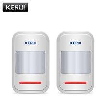 2pc/4pc lotto KERUI 433Mhz rilevatore di sensore di movimento PIR intelligente Wireless per sistema di allarme domestico GSM PSTN senza Antenna a infrarossi