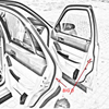 Big D Type Sealing Strip 5M Car Door Seal Auto Strip Waterproof Trim Sound Insulation Weatherstrip Rubber Seal Strips Sticker promo
