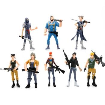 8 unids/set Fortress Night Llama PVC figuras de acción juguete Battle Royale personaje del juego Fortress Modelo figura Toy Boy regalo para niños