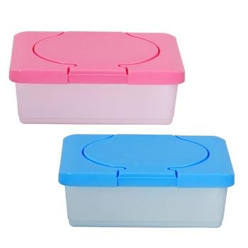 Behogar 2pcs Empty Plastic Wet Tissue Paper Storage Holder Container Case Baby Wipes Dispenser Box Home Accessories plastic