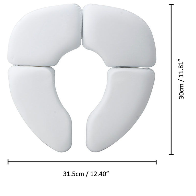 Pc White Portable Folding Child Baby Toilet Seat Soft Potty Chair Pad Cushion Training
