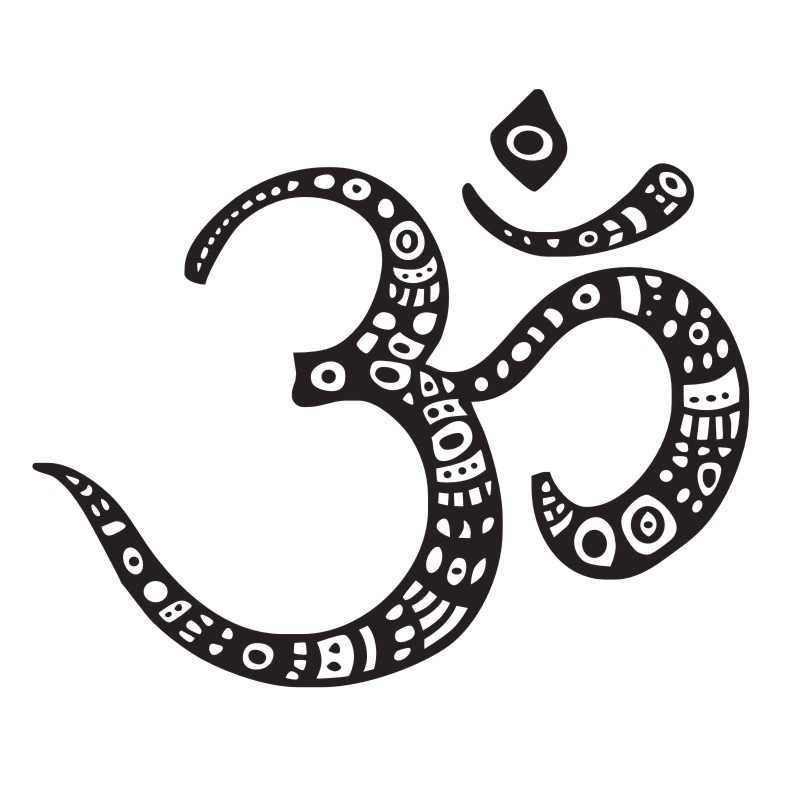 Aliexpress Buy Buddhist Meditation Om Symbol Wall Stickers