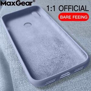 Original Liquid Silicone Case For Xiaomi Mi 9 SE 8 Lite A2 MIX 3 2S 6X Mi 10 Play Slim Soft Cover Case Redmi Note 7 6 Pro 6A CC9(China)
