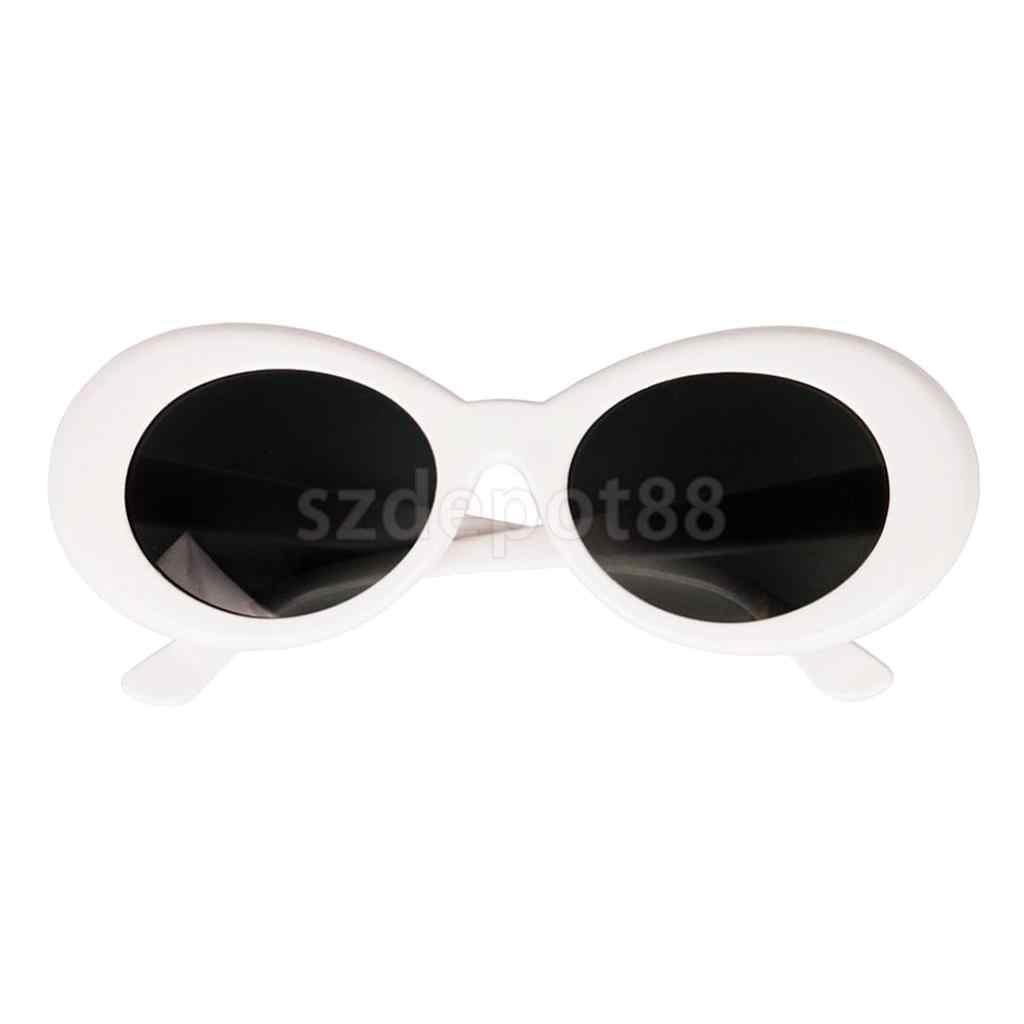 Nuevo diseño, moda para mujer Retro de gafas de sol, gafas ovaladas con marco grueso, modelo llamativo, gafas de sol blancas para exteriores