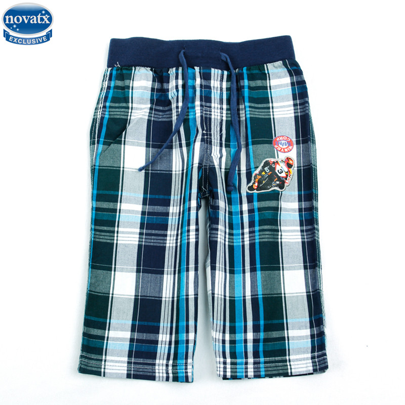 novatx D3735 kids boy new style summer cotton boys shorts plaid cool carton boys children clothes baby boys pants hot selling