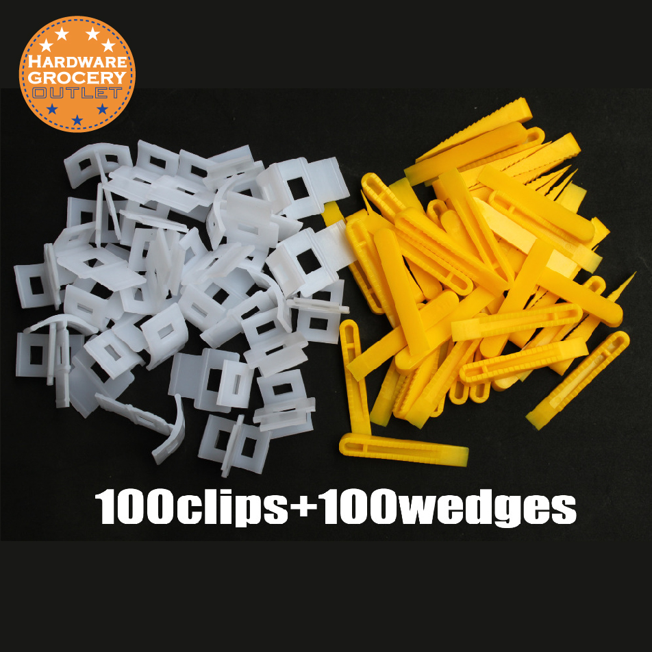 Tile  Leveling System. 100 Pieces LASH Tile Leveling System+1 Pcs Cleaning And Washing Sponge