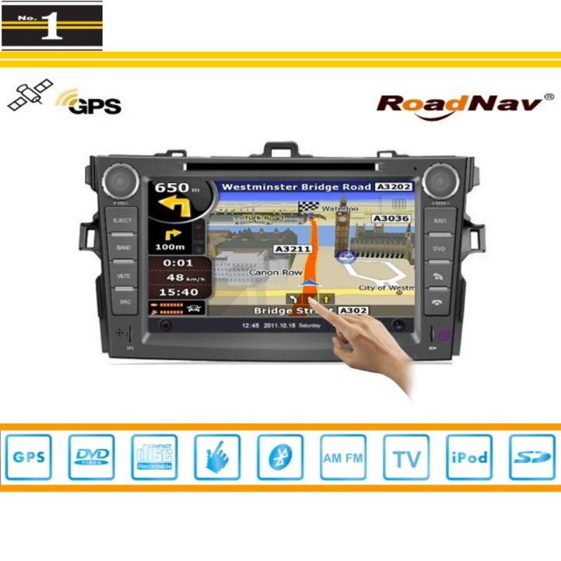 Para Toyota Corolla E140 E150 2007 ~ 2012 Coches Reproductor de DVD GPS Radio CD