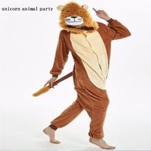 unicorn lion tiger Kigurumi Adult Pyjamas Cosplay costume Onesie Sleepwear Homewear Unisex Pajamas Party Clothing Women Man