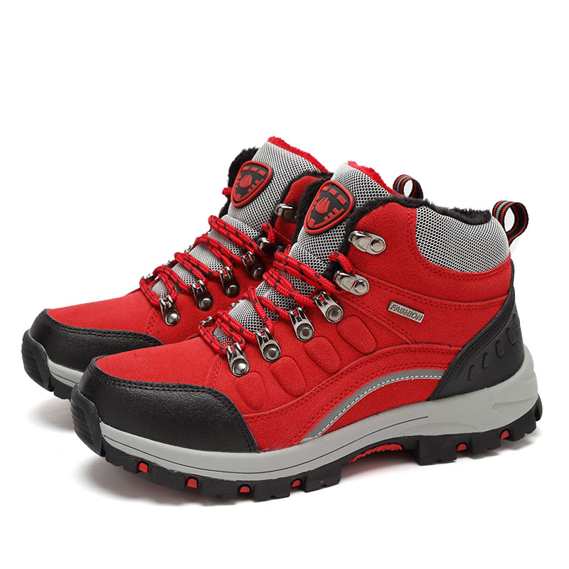 ФОТО New 2017 Sneakers Women Hiking Shoes Outdoor Trekking Boots Climbing Shoes Sports Rubber Sole Shoes Winter Waterproof Nubuck