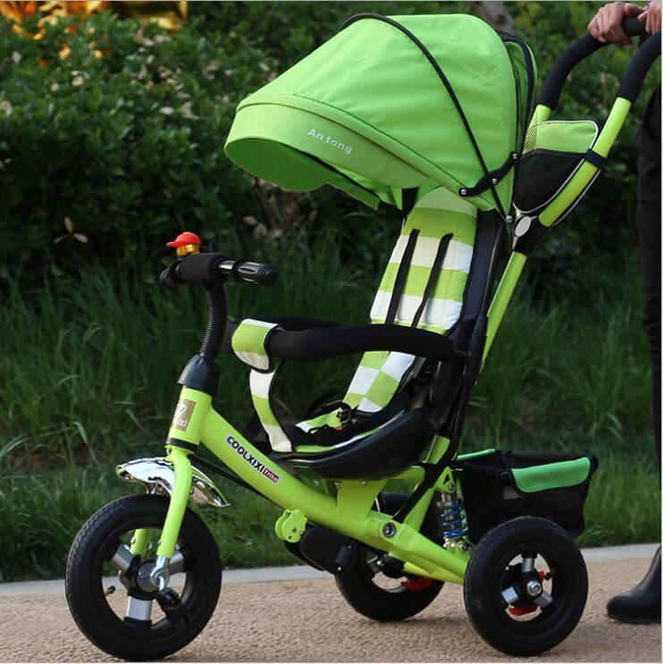 Vélo pliant Portable bébé vélo bébé voiture vélos pour enfants trois roues 1-3-6 ans bébé enfant poussette vélo cadeaux - 3