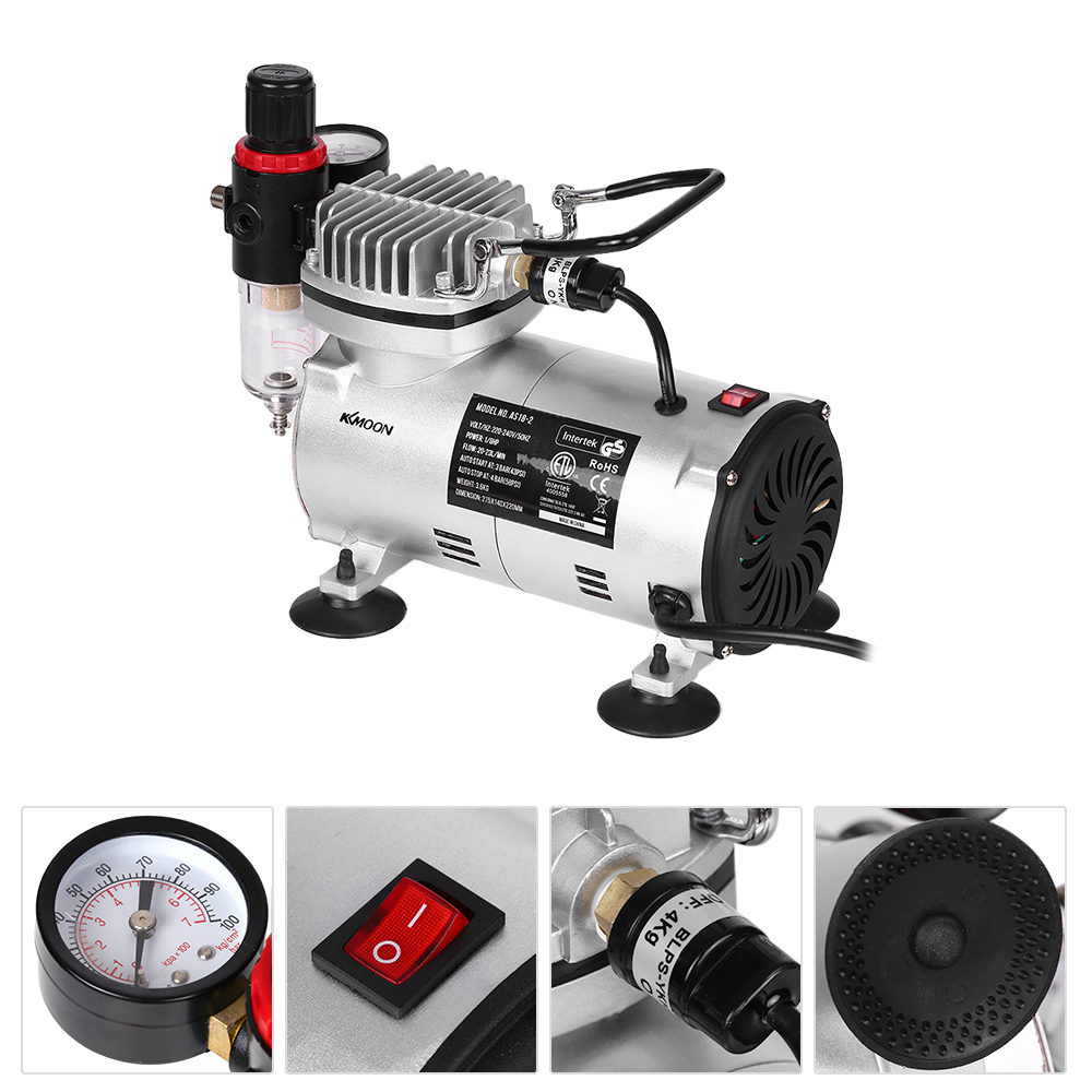KKmoon 220 В мини распылитель воздушный компрессор аэрограф компрессор высокого давления насос тату Маникюр для художественной живописи ремесло