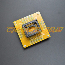 цена на IC TEST QFP128 test socket TQFP128 LQFP128 QFP128 With PCB board ic socket Pitch=0.5mm Size=14.5x20.5mm 17.2x23.2mm