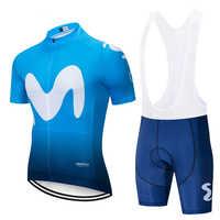 2019 Movistaring-Team kurzarm radfahren Jersey anzug bib roa ciclismo fahrrad anzug MTB fahrrad Jersey uniform männer kleidung