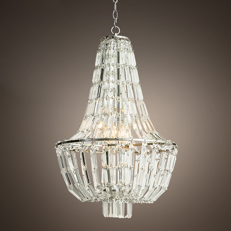 Luxury American Vintage Crystal Chandelier Living Room Lamp Hotel Light  110v 220v With Led Bulbs Free