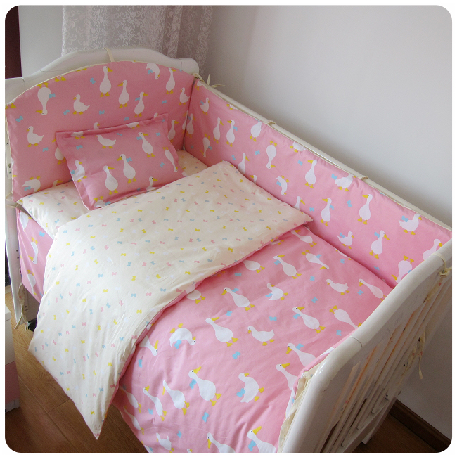 9PCS Whole Set Cotton Baby Bedding Set Crib Bedding Set Comfortable bed clothes bed Crib Bumper Sets,4bumper/sheet/pillow/duvet