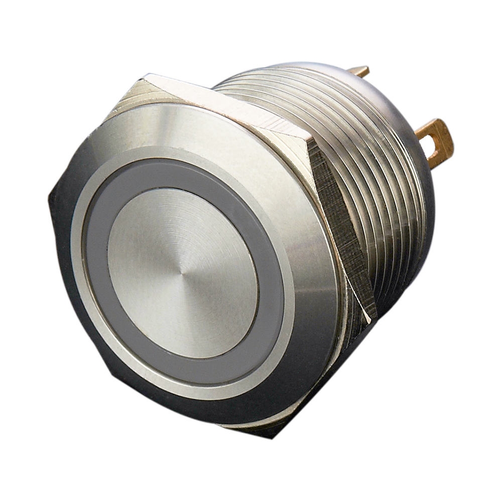 12mm 16mm 19mm <font><b>22mm</b></font> Momentary normal open stainless steel 3V 6V 12V 24V 36V ring <font><b>led</b></font> metal electric push button <font><b>switch</b></font> image