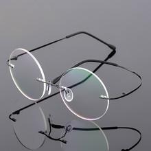 1e5238443 DUBERY Vintage Rimless Glasses Frame Women Ultralight Eyeglasses Men  Prescription
