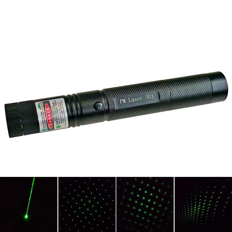 High Power Laser 303 Powerful 532nm Green Laser Pointer Burn Match Pop Balloon Laser Pen Set Fire to Matches H026N