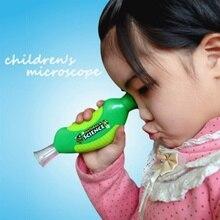 1 шт. легкий Биологический микроскоп Ручной микроскоп 80X домашняя школьная обучающая игрушка для детей 778504