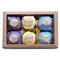 6pcs Bath Salt Bombs Bubble Ball Essential Oil Handmade SPA Stress Exfoliating Relief Mint Lavender Orange