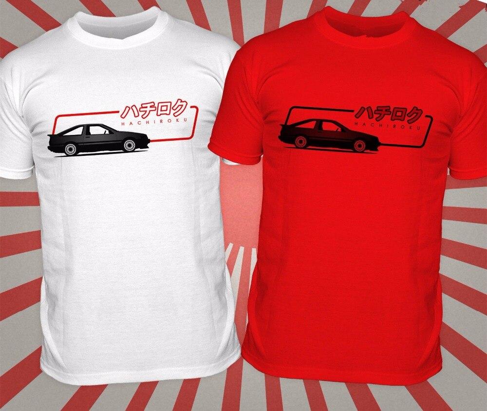 AE86 Deriva Carro Japonês T Shirt Dos Homens de verão Japão Hachiroku Motor  imprimir O Pescoço Camiseta de Algodão Branco Vermelho Casuais Camisas de  Manga ... b33b2421ba5