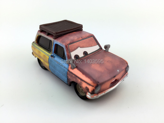 Rare Pixar Cars Jason Hubkap Wagon Paris Parts Market 1/55 Diecast