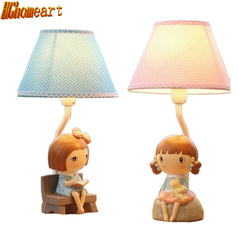 HGhomeart Korean Cartoon Cute Creative Fashion Table Lamp Desk Lamp Decorations Girl Birthday Gift for Study m sparkling td303 creative cartoon 3d led lamp